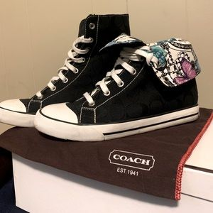 Authentic Coach High Tops With Dust Bag and Box